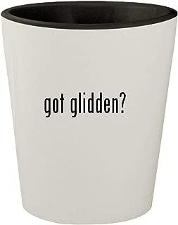 got glidden? - White Outer & Black Inner Ceramic 1.5oz Shot Glass