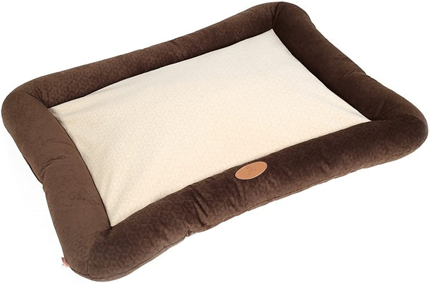 Huangyingui Ashable Plush Dog Bed With Removable Cover, Cuddly Dog Sofa, Brown, bluee (Size   M 100  80cm)