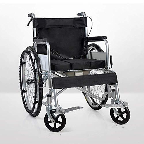 WZC Silla de ruedas Cómoda Transporte ligero Plegable Silla de viaje portátil Mayores Discapacitados Autoservicio Cinturón (Estilo: C) / C