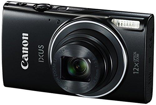 Canon IXUS 275 HS Digitalkamera (20 Megapixel, 7.5 cm (3 Zoll) TFT-Bildschirm, Full HD, 12-fach optischer Zoom, WLAN, NFC) schwarz