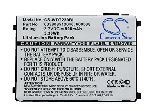 Batterie Kompatibel mit Wasp WDT2200 Li-ion 3.7V 900mAh - 633808510046, 600538, 4006-0319
