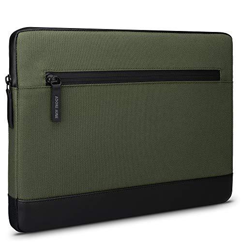 Adore June 10,5 Zoll Bent Tablet Tasche Oliv Grün kompatibel mit Surface Go (Version 1-3), Nachhaltige Recycelte Stoffe, wasserdichte Reißverschlüsse & Klappbarer Stifthalter für Surface Pen