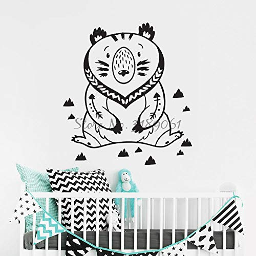 wopiaol Calcomanías de Pared Salvajes y gratuitas Wooldland Bear Vinilo Adhesivos de Pared para Habitaciones Infantiles Nursery Bedroom Wall Art Decoración para el hogar