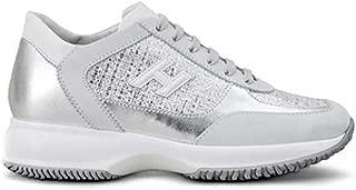 HOGAN Luxury Fashion Womens HXW00N0BH50KL40QDC Silver Sneakers | Fall Winter 19