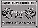 LUGUNO Warnung Vor Dem Hund Schild I Alu Hundeschild Warnschild Warnung Achtung Mein Revier