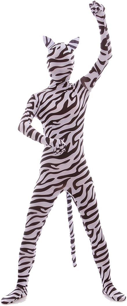 Nedal Lycra Spandex Zebra 5 ☆ 2021new shipping free shipping popular Bodysuit Skin Suit Halloween Animal Co