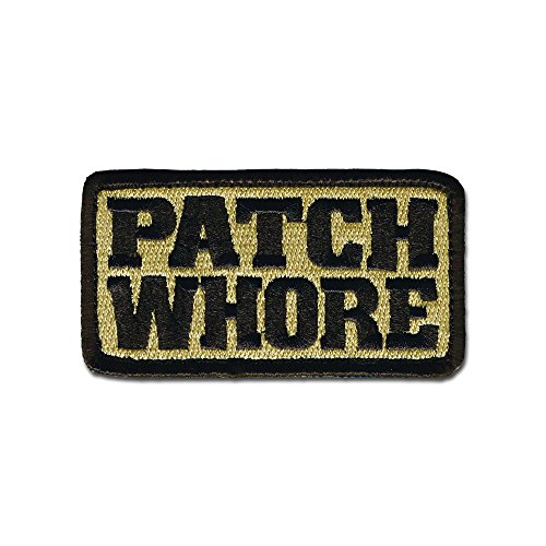 BASTION Morale Patches (Patch Whore, ACU) | 3D Embroidered Patches with Hook & Loop Fastener Backing | Well-Made Clean Stitching | Military Patches Ideal for Tactical Bag, Hats & Vest