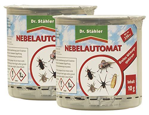 Dr. Stähler 002189 Kammerjäger, Ungeziefer Nebelautomat für Wohnungen bis 250 m³, 2 Stück