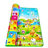 Rylan Double Sided Waterproof Baby Crawl Mat with Zip Bag to Carry