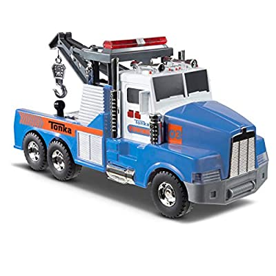 Tonka Mighty Motorized Tow Truck Toy Vehicle FFP