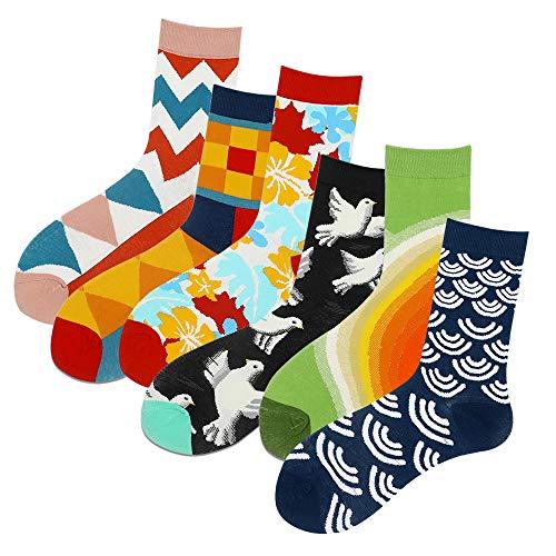 Calcetines para hombre y mujer (6 pares) Navidad Street Fashion Personality