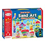 Sand Art Kit for Kids - Including 8X Sand Art Bottles, 2X Pendant Bottles, 8X Bright Color Sand, 2X Glow in The Dark Sand, Glitters, Stickers, and More - Creative STEM Craft Sand Art for Kids