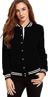 FV RELAY Women's Baseball Jackets Casual Varsity Velvet Short Coats Outwear