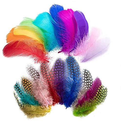 Piume colorate, assortiti piuma colorata mista per bambini fai da te orecchini del mestiere del partito della casa del Festival di nozze accessori decorazioni 300PCS