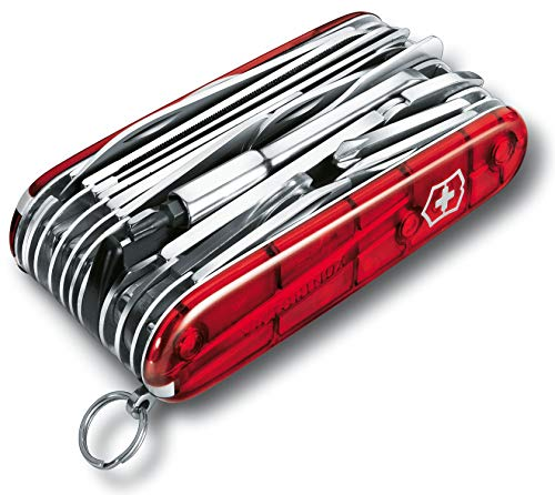 Victorinox zakmes Swiss Champ XLT (49 functies, bit-sleutels, bithouder) rood transparant