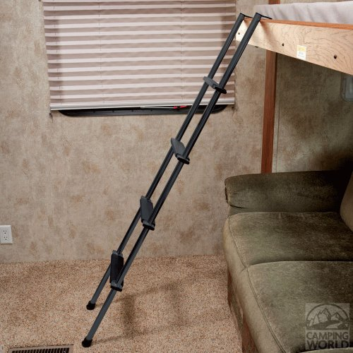 "Stromberg Carlson LA-460B 60"" Black Bunk Ladder with Hook Retainer and Extrusions"