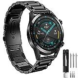 Correa per Amazfit Stratos Correas, 22mm Pulsera de Metal de Acero Inoxidable para Amazfit Pace/Amazfit Stratos/2/2S/Amazfit GTR 47mm/Amazfit GTR 2/GTR 2e/Huawei GT 2 46mm/Galaxy Watch 3 45mm/Gear S3
