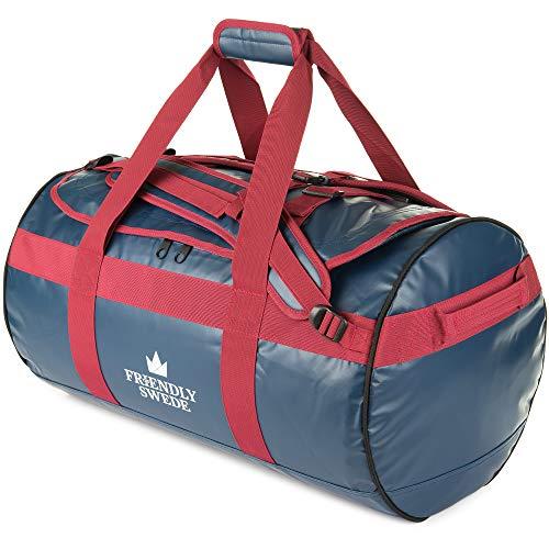 北欧ブランド「The Friendly Swede」ボストンバッグ ダッフルバッグ 耐水 スポーツバッグ 旅行バッグ 旅行カバン メンズ レディース ユニセックス ジムバッグ 3way 大容量 ドラムバッグ (ブルー 60L)