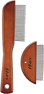 Oster Tug-Free Tools Dog Comb Set with Dog Grooming Comb and Flea Comb (078279-007-000)