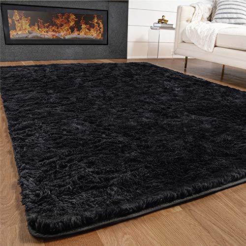 Gorilla Grip Fluffy Area Rug, 5x7 Feet, Soft and Cozy Faux...