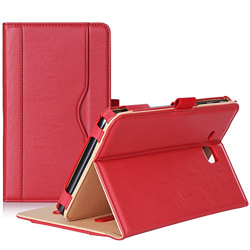 ProCase Galaxy Tab A 7.0 2016 Case T280 T285, Stand Folio Case Cover for Galaxy Tab A 7.0 SM-T280 SM-T285 Tablet, with Multiple Viewing Angles, Document Card Pocket (Red)