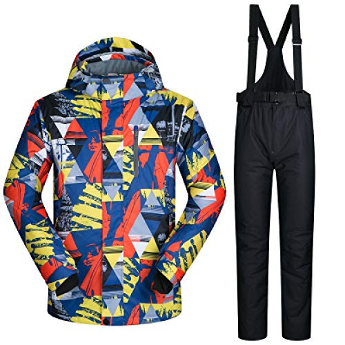 MEOBHI Skipak Heren Ski Suit Winddicht Waterdicht Warm Thicken Ski Jassen en Sneeuwbroek Sets Winter Skiën en Snowboarden Suits