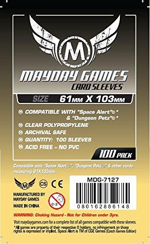 331677 MayDay Games 50 Pi/èces Premium 63,5 X 88 Mm Housse De Protection Jeu De Cartes