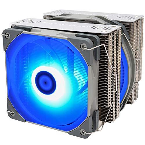 Fauge Radiador Enfriador de CPU de Doble Torre Fs140 con Ventilador Pwm de 140Mm 4Pin RGB para RefrigeracióN de CPU de Computadora 115X 2011 2066 Am4