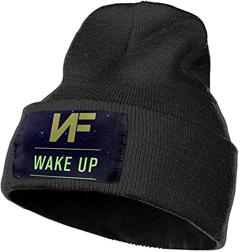 Preisvergleich Produktbild Voxpkrs Unisex Beanie Hat NF Wake Up Classic Cuffed Plain Skull Knit Hat Cap Sports & Outdoors Watch Cap Black Cool 32447
