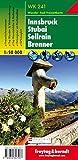 WK 241 Innsbruck - Stubai - Sellrain - Brenner, Wanderkarte 1:50.000: Wandel- en fietskaart 1:50 000 (freytag & berndt Wander-Rad-Freizeitkarten) - Freytag-Berndt und Artaria KG