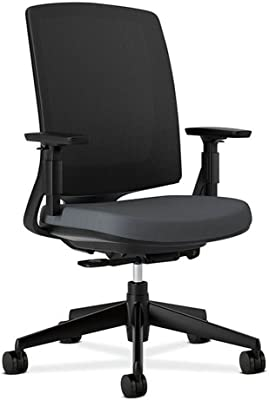 HON Lota Mesh Mid-Back Chair - Black Frame Dimensions: 26.75