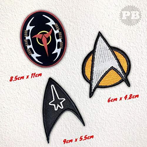 Star Trek The Next Generation Crew-Filmkollektion zum Aufbügeln (Set)