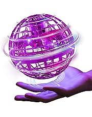 Gimamaフライングボール ジャイロ 飛行ボールトイ UFOおもちゃ ブーメランスピナー ドローンおもちゃ LEDライト付き 人気を集めているプレゼント (パープル)