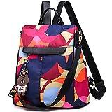 Women's Anti-theft Backpack Purse Small Daypack Schoolbag Girls Shoulder Bags (Elegant Rainbow)