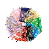 Bolsas de Organza ,20 Pcs 13*18cm Multicolor Bolsas de Organza de Regalos para Boda Favores y Joyas ,bolsas de caramelos