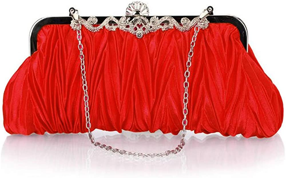 Womens Vintage Satin Cocktail Max Omaha Mall 68% OFF Handbag Evening Clutch Party