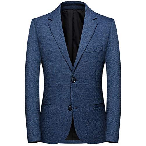 Azruma Herren Business Anzugjacke Doppelschnalle Knopf Karierte Sakko Herren Anzugjacke Kariert Sakko Herrensakko Karriert Vintage Tweed Design Jacken Mäntel Wedding Party Blazer
