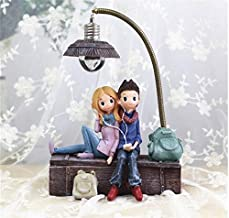 D&Y Cute & Lovely Couple Resin Ornament Showpiece with Led for Home Decor   Decoration   Room Decor   Valentine    Gifts  ...