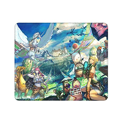 World of Final Fantasy Maxima Gaming Mouse Pad Novelty Cute Moogle Thick Mouse Mat Non-Slip Stitched Edges and Rubber Base for Home Office Desk (12x9.8 inch)