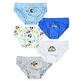 Braguitas para niño de Mickey Mouse, 100% algodón suave, pack de 5 unidades, 2-3-4-6 años Pack 1 4 años