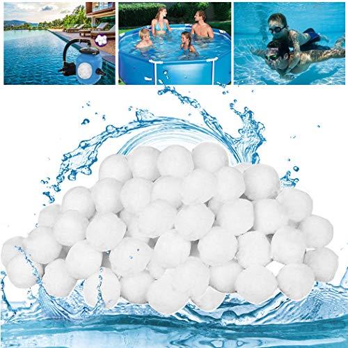 GothicBride Filterballs Pool, 1400g Filterbälle für sandfilteranlagen, Schwimmbad, Filterpumpe, Aquarium Sandfilter.