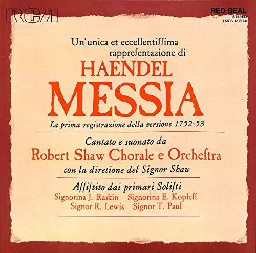 Haendel: Messia; La prima registrazione della versione 1752-53 - LMDS 6175(3) - Vinyl Box