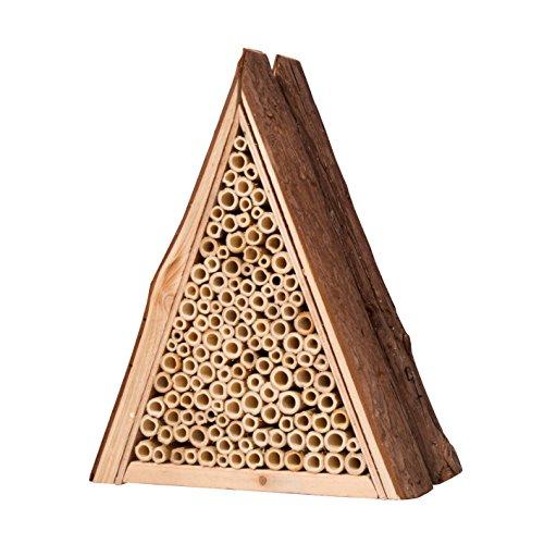 Gardigo Bienenhotel aus FSC Holz I Unterschlupf für Wildbienen I Bienenhaus für den Garten zum Aufhängen