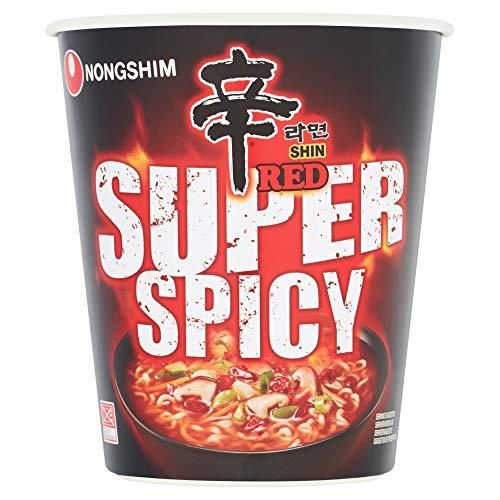Nong Shim Fideos Instantáneos En Vaso Red Shin Ramyun, Super Spicy 68 g