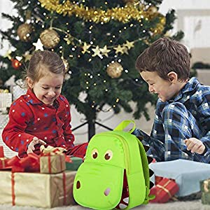 511nl0dTM1L. SS300  - Mochila Infantil, OFUN 3D Mochila Guardería, Toddler Kids Mochila Escolar para niños, Impermeable Niños Niñas Mochila para 2-7 años (Dinosaurio Verde) (Dinosaur)
