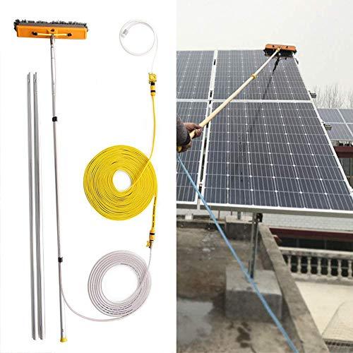 TTOOY Poste de Limpieza de Ventanas de 4,5-12 m, Cepillo telescópico con alimentación de Agua, Techo de Invernadero Limpiador Extensible, Paneles solares y fotovoltaicos de Limpieza/6 m/19,7 pies