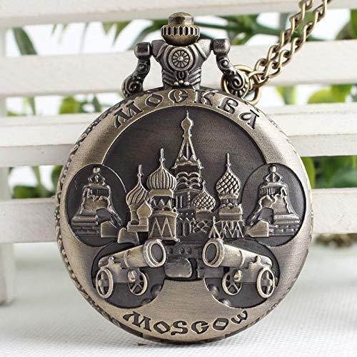 CMHC Vintage Retro de Lujo de Anillas de Cobre Moscú Cuarzo Reloj de Bolsillo Colgante Rusia Recuerdos Mujer Hombre Relojes