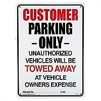 AMERICAN プラスチックサインボード 駐車場スペース 案内 (CA-27 CUSTOMER PARKING)