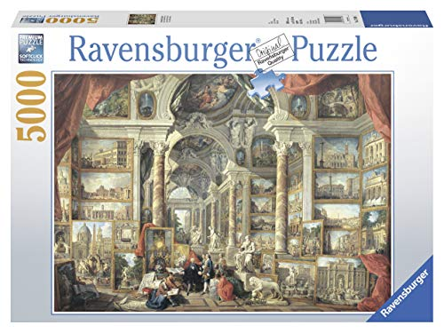 Ravensburger Views of Modern Rome - 5000 Piece Jigsaw Puzzle for Adults – Softclick Technology Means Pieces Fit Together Perfectly, Tan