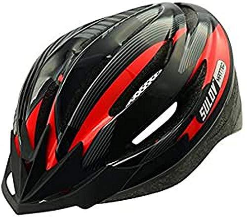 SULOV Adultos de Ciclismo Matteo, año, Unisex, Color Negro - Rojo/Negro, tamaño 55-58cm